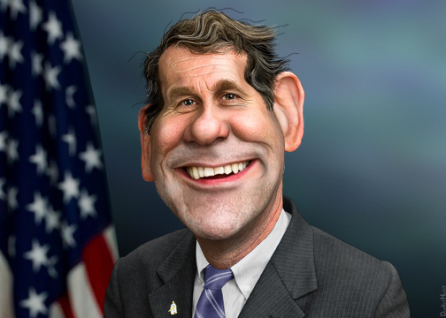 sherrod brown caricature